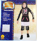 Skeleton Princess Dress Child Costume 4-6 8-10 10-12 NIP