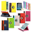 New 360 Rotating PU Leather Case Cover For Apple iPad Air 5 5th Stand +Pen+Film