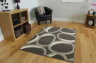 New Small Large Modern Rugs Long Runner Mat Grey Oval Easy Clean Living Room Rug