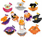 HALLOWEEN PARTY Bodysuit PUMPKIN WITCH Jumpsuit Baby Dress Girl Clothing NB-18M