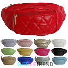 Womens Ladies Quilted Bum Bag Ladies Belt Hip Travel Shopkeeper Waist Strap Bag