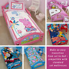 Childrens Toddler Cot Bed Junior Character Disney Cartoon Girls Boys Kids Childs