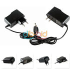 HOT 5.5 x 2.1MM 100/110-240V 12V 1A 2A Wall Charger Power Supply Adapter EU US