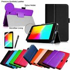 Folio Stand PU Leather Cover Smart Case Film Stylus for LG G Pad 7.0 V400 7-inch