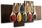 Spices Indian Food Kitchen MULTI CANVAS WALL ART Picture Print VA