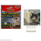 NEW 1 OR 2 SELF GROOMING CAT WALL BRUSHES WITH FREE FLEA COMB KITTEN SCRATCH PAD