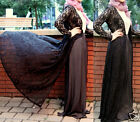 LONG LACE CARDIGAN SHIRT JUMPER JACKET MAXI DRESS ABAYA KIMONO CROCHET KAFTAN