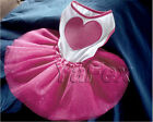 Top Pet Dogs Heart Cotton Costume Clothes Wedding Party Multilayer Tulle Dress y