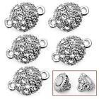 5 Pcs Round Crystal Rhinestone Strong Magnetic Clasps Jewelry Findings 9mm,New