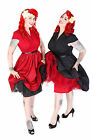 LINDY BOP 'MEGAN' FLIRTATIOUSLY FUN 50S VINTAGE PLEATED BUST PARTY DRESS