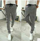 Top Designer Men's Plaid Casual Sports Dance Trousers Baggy Jogging Harem Pants