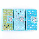 Unique Deluxe Opal Rhinestone Leather Card Case Stand Cover Fr Various Cellphone