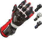 SPADA CURVE RACING PROTECTION LEATHER SPORTS REINFORCED MOTORCYCLE GLOVES