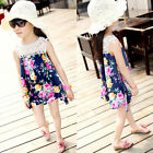2-7 Years Kids Child Baby Girl Sleeveless Lace Dress Colorful Floral Skirt Dress