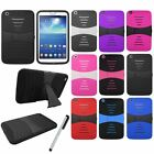 For Samsung Galaxy Tab 3 8.0 Deluxe Impact Kickstand Hard Case Cover Stylus NEW