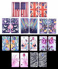For Apple iPhone Blossom Watercolor Design Leather Media Stand Flip Cases Covers