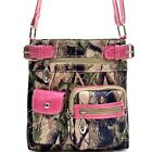 Camouflage Patent Leather Zipper Pouch Messenger Bag Crossbody Bag Crocodile New