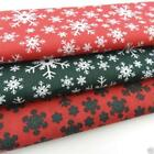 Per metre CHRISTMAS  star fabrics in red white & green polycotton 112cm wide