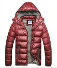 New Men'S Winter Hooded Warm Padded Coat Down Cotton Coat Zip Thick Jacket