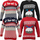 Mens Jumper Christmas Novelty Knitted Xmas Reindeer Sweater Pullover Winter New
