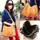 New Ladies Shoulder Tote Handbag Faux Leather Womens Cross Body Bag Purse