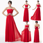 CHEAP Stock Long Evening Prom Bridesmaid Dress Formal Cocktail Ball Gown UK 8-18