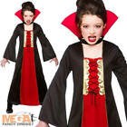 Gothic Vampiress 3-10 Y Girls Halloween Fancy Dress Kids Child Childrens Costume