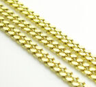 "18-26"" 1.4mm 10k Yellow REAL SOLID Gold Miami Cuban Curb Chain Necklace Mens"