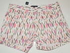 NWT Gap Kids Girls White Pink Orange Stretch Shorts Girls 7 Adjustable Waist