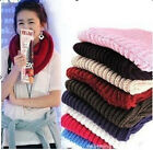 Unisex Women's Cozy Knit Neck Circle Wool Blend Cowl Long Scarf Shawl Wrap UK EW