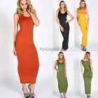 Sexy Women Sleeveless Slim Tank Top Long Maxi Skirt Vest Dress Solid Sundress 35