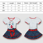 2pc 1-2Y cute Baby Girls Children Kids Top T-shirt+Skirt Dot Outfit Clothing Set