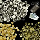 100pcs Alloy Round Rivet Bag Clothes Accessories Decorative Beads 3 Colors ItS7