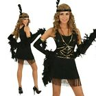 Adult 20s Black Gatsby Flapper Costume 1920s Charleston Fancy Dress Party Outfit