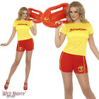 FANCY DRESS COSTUME # LADIES 80s BAYWATCH CASUAL FEMALE OUTFIT SIZE 8-18