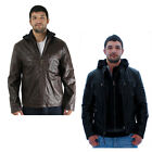Andrew Marc Varick Men's Removable Hooded Leather Jacket Coat