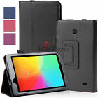 "Slim Fit Folio Folding Stand PU Leather Case Cover for LG G Pad 7 7.0"" V400 V410"