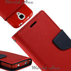 Flip Wallet Pouch Case For LG / ZTE PU Leather Folio Cover Red / Blue +TPU