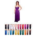 E69 LADIES SEXY PARTY WEDDING BRIDESMAID JEWEL DIAMANTE NECKLACE MAXI DRESS 8-20