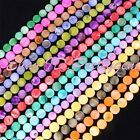 """11MM FLAT COIN BEAUTIFUL SHELL MOP GEMSTONE BEADS STRAND 15""""SELECT BY COLOR"""