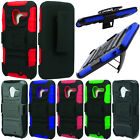 For AT&T Motorola Moto X Phone XT1058 Rugged Hybrid Kickstand Holster Case Cover