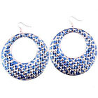 shipping Korean Restore Style hot Party Jewelry Printed Dangle Earrings 3 color