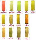 "15y 9mm 3/8"" Lemon Maize Yellow Gold Grosgrain Ribbon Christmas Gift Eco Quality"