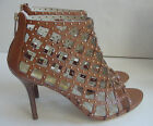 NEW Michael Kors Aiden Fashion Sandals Bootie Heels Luggage Womens Sz 11 $250