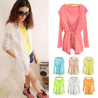 Women Summer Long Sleeve Shirt Sun Protection Ultrathin Small Cardigan Coat