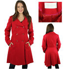Jessica Simpson Women's Knee Length Wool Trench Pea Coat
