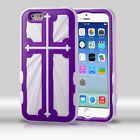 For Apple iPhone 6 / 6s Cross IMPACT HYBRID Case Skin Phone Cover Accessory