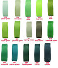 "2y 5y 10y 38mm 1 1/2"" Green Emerald Shades Premium Grosgrain Ribbon Eco Sewing"
