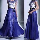 2014 Lady Long Chiffon Bridesmaid Evening Formal Party Ball Gown Prom Dress E0Xc