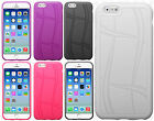 For Apple iPhone 6 / 6s Texture Rubber SILICONE Soft Gel Skin Case Phone Cover